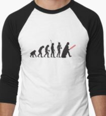 Human evolution Star wars Men's Baseball ¾ T-Shirt