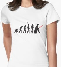 Human evolution Star wars Women's Fitted T-Shirt