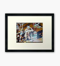The School of Postmodernism Detail 4 by Vittorio Pelosi Framed Print