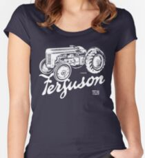 Classic Ferguson TE20 script and illustration Women's Fitted Scoop T-Shirt