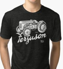 Classic Ferguson TE20 script and illustration Tri-blend T-Shirt