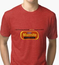 I Survived the Great NZ Marmite Famine of 2012 Tri-blend T-Shirt