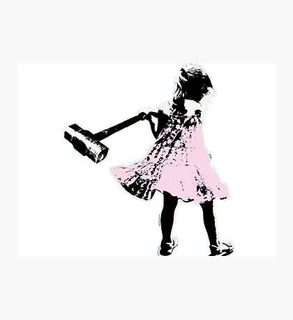 Hammer girl - Switched at Birth Photographic Print