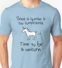 Time To Be A Unicorn Slim Fit T-Shirt