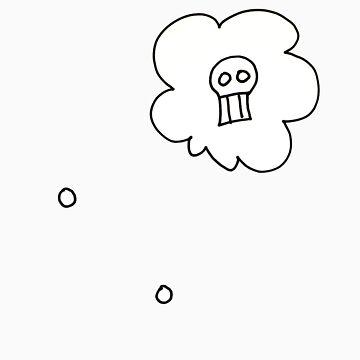Skull Thought Bubble by ghengisjohn