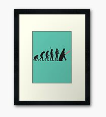 Human evolution Star wars Framed Print