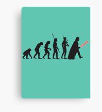 Human evolution Star wars Canvas Print