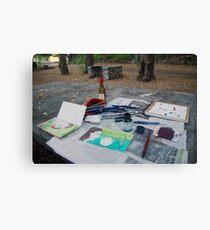 Atelier en plein air Canvas Print