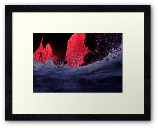 Lava Flow at Kalapana 7 by Alex Preiss