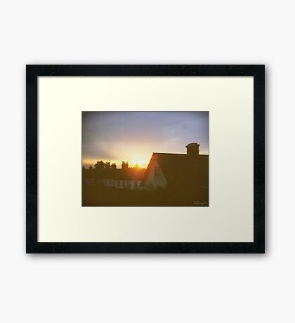 sights of cities and towns Framed Print