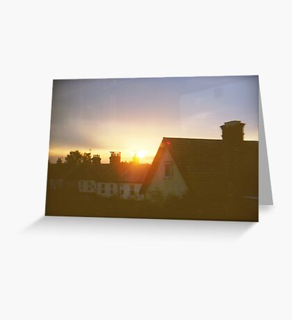 sights of cities and towns Greeting Card
