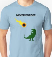 Never Forget (Dinosaurs) Slim Fit T-Shirt