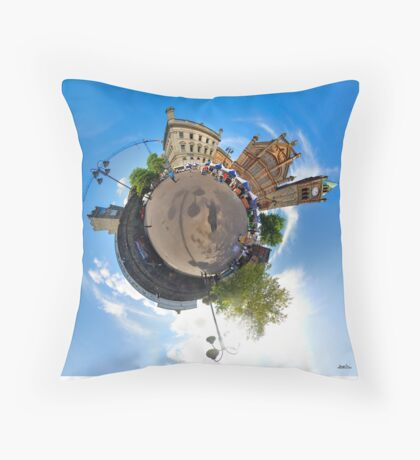 Walled City Market, Guildhall Square, Derry Throw Pillow