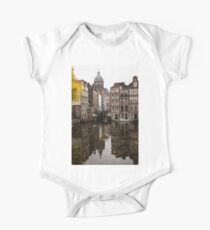 Amsterdam - Reflecting on Autumn Canal Houses One Piece - Short Sleeve