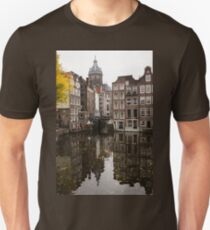 Amsterdam - Reflecting on Autumn Canal Houses T-Shirt