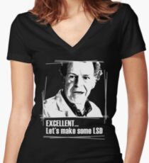 Walter Bishop Women's Fitted V-Neck T-Shirt
