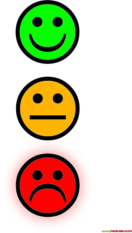 Quot Smiley Traffic Lights Green For Go Quot Stickers By Muz2142