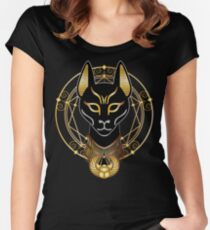 Golden Bastet Women's Fitted Scoop T-Shirt