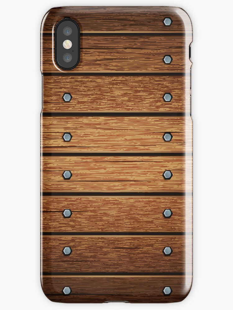 Retro Wooden Style iPod/ iPhone 4 Case / Samsung Galaxy Cases  by CroDesign