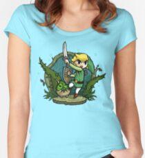 Zelda Wind Waker Forbidden Woods Temple Women's Fitted Scoop T-Shirt