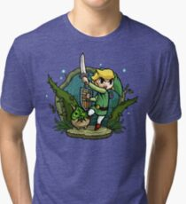 Zelda Wind Waker Forbidden Woods Temple Tri-blend T-Shirt