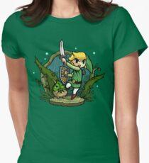 Zelda Wind Waker Verbotener Wald Tempel Tailliertes T-Shirt