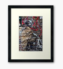 Street Art in London ( Swoon series) Framed Print