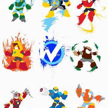 Robot Masters of Mega Man 2 by thedailyrobot