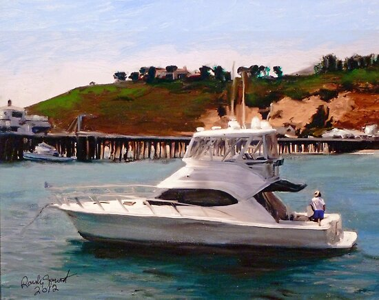 Gail Anne at Malibu Pier by Randy Sprout