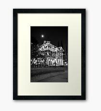 Haunted Mansion - Night Framed Print