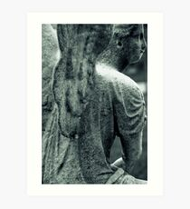 Angel, Mount Auburn Cemetery, Cambridge, MA Art Print
