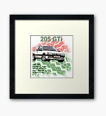 205 GTi Classic Car Men's T-shirt Framed Print