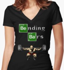 Breaking Bad Walter White Gym Motivation Women's Fitted V-Neck T-Shirt