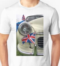 2 Morris Minor with flag Unisex T-Shirt