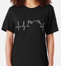 Motorcycle Life Line Slim Fit T-Shirt