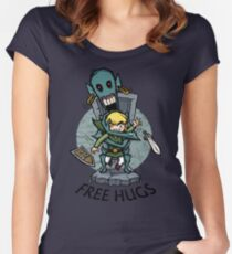 Zelda Wind Waker FREE HUGS  Women's Fitted Scoop T-Shirt