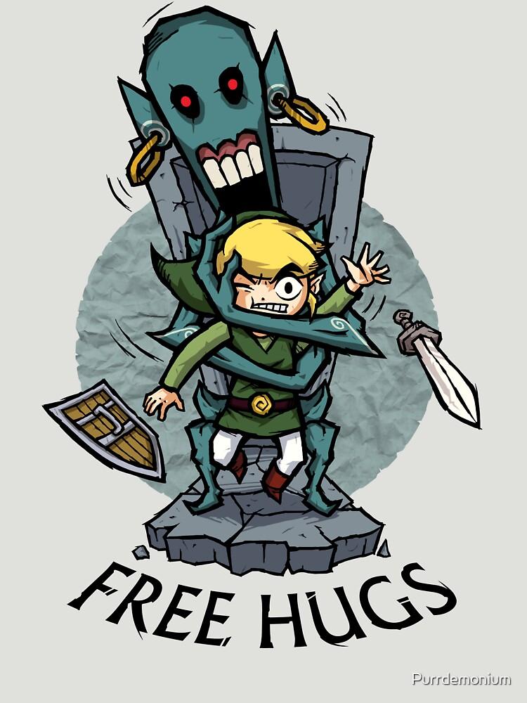 Zelda Wind Waker FREE HUGS de Purrdemonium