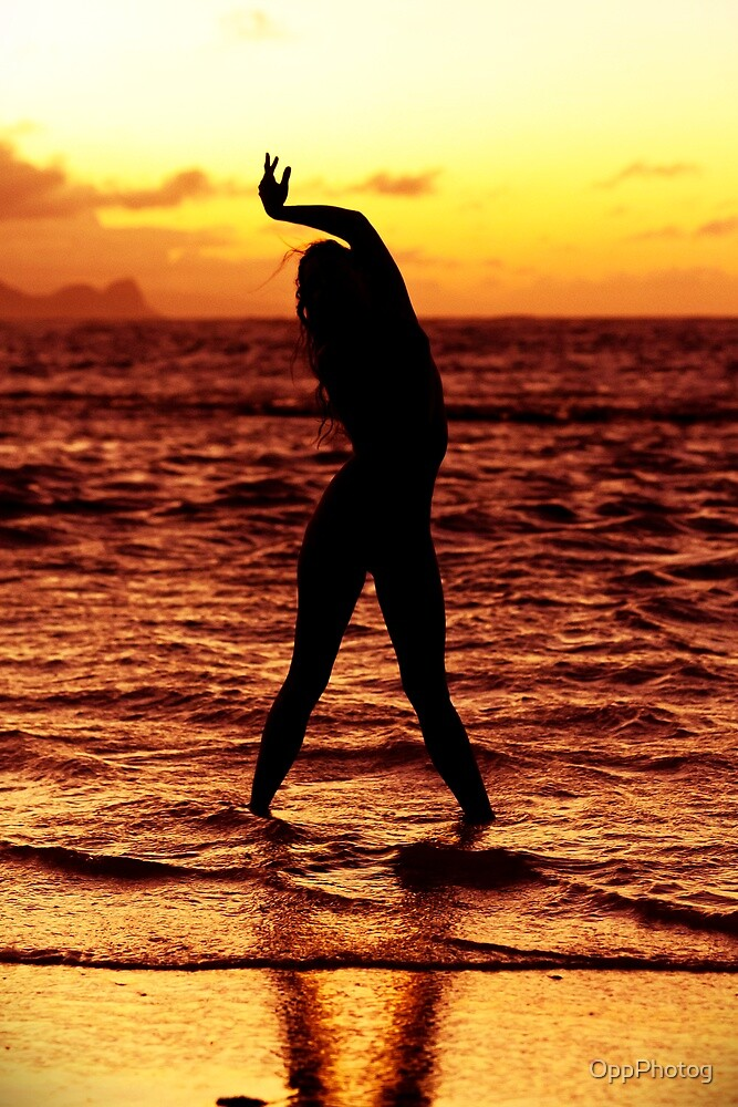 Sunset Yoga III by Charles Tribbey