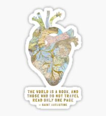 A Traveler's Heart + Quote Sticker