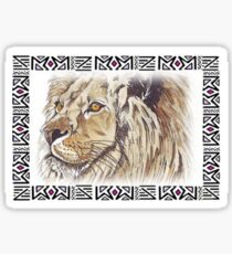 Lodge décor - African lion Sticker