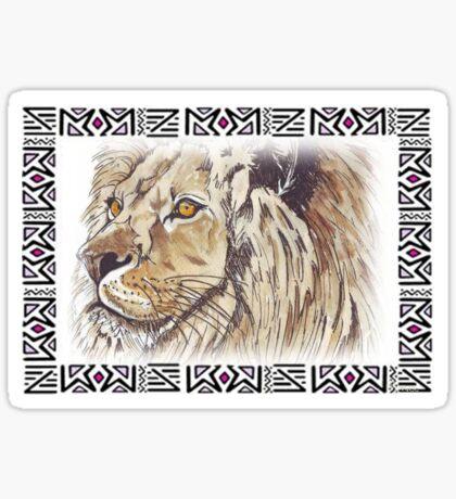 Lodge décor - African lion Sticker