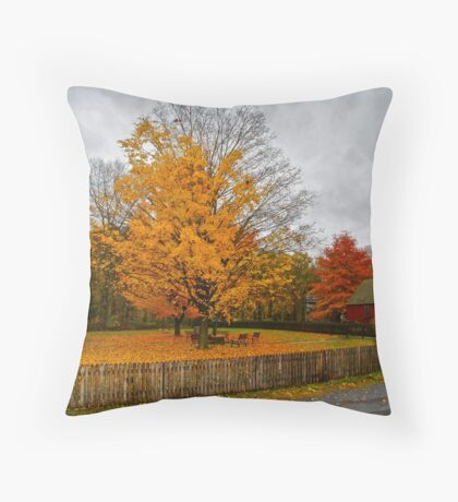 Old Bedford Village Throw Pillow