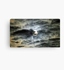 The Super Moon from here 2 Canvas Print