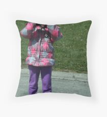 The Photographer Throw Pillow