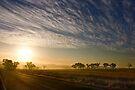 Smokey Sunset ~ Cootamundra (NSW) by Rosalie Dale