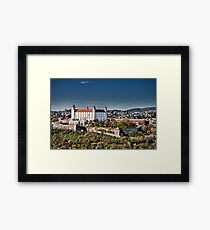 The beautiful Bratislava Castle. Framed Print