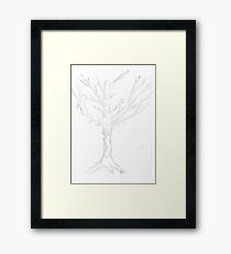 The White Tree Of Gondor - Sketch Framed Print
