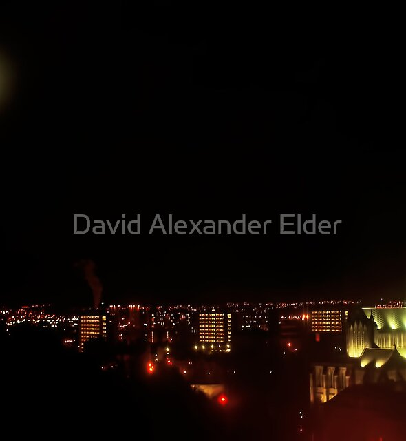 Full Moon over Glasgow Cathedral by David Alexander Elder