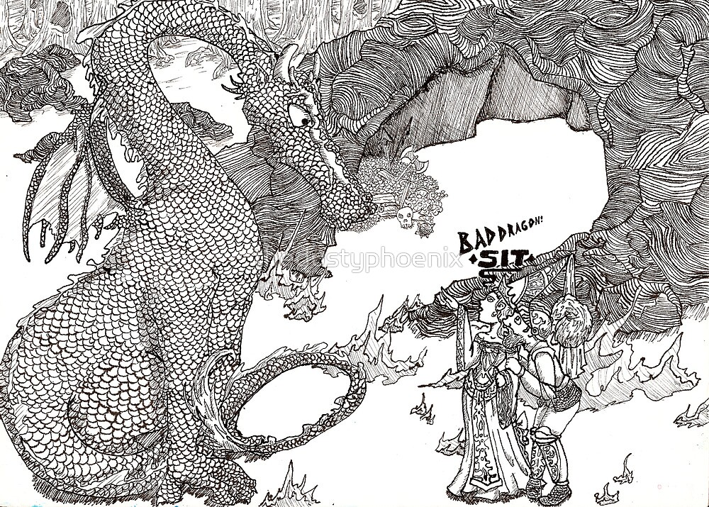 Bad Dragon Sit by thedustyphoenix