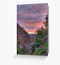 The Gorge at Sunset Greeting Card